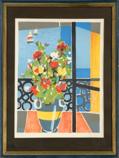 Flowers by the Window - Mid Century Cubist Still Life