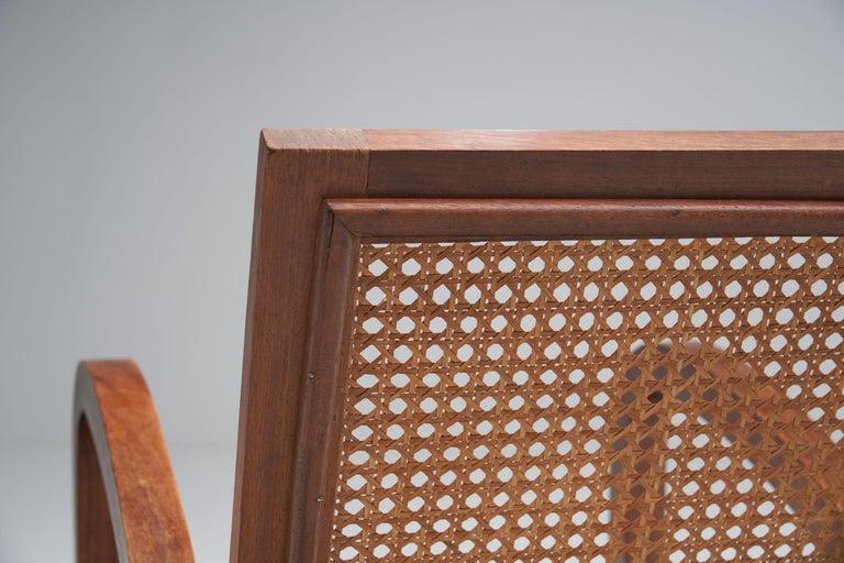 """Cane """"Fauteuils de Paquebot"""" Chair, France, 1950s For Sale"""