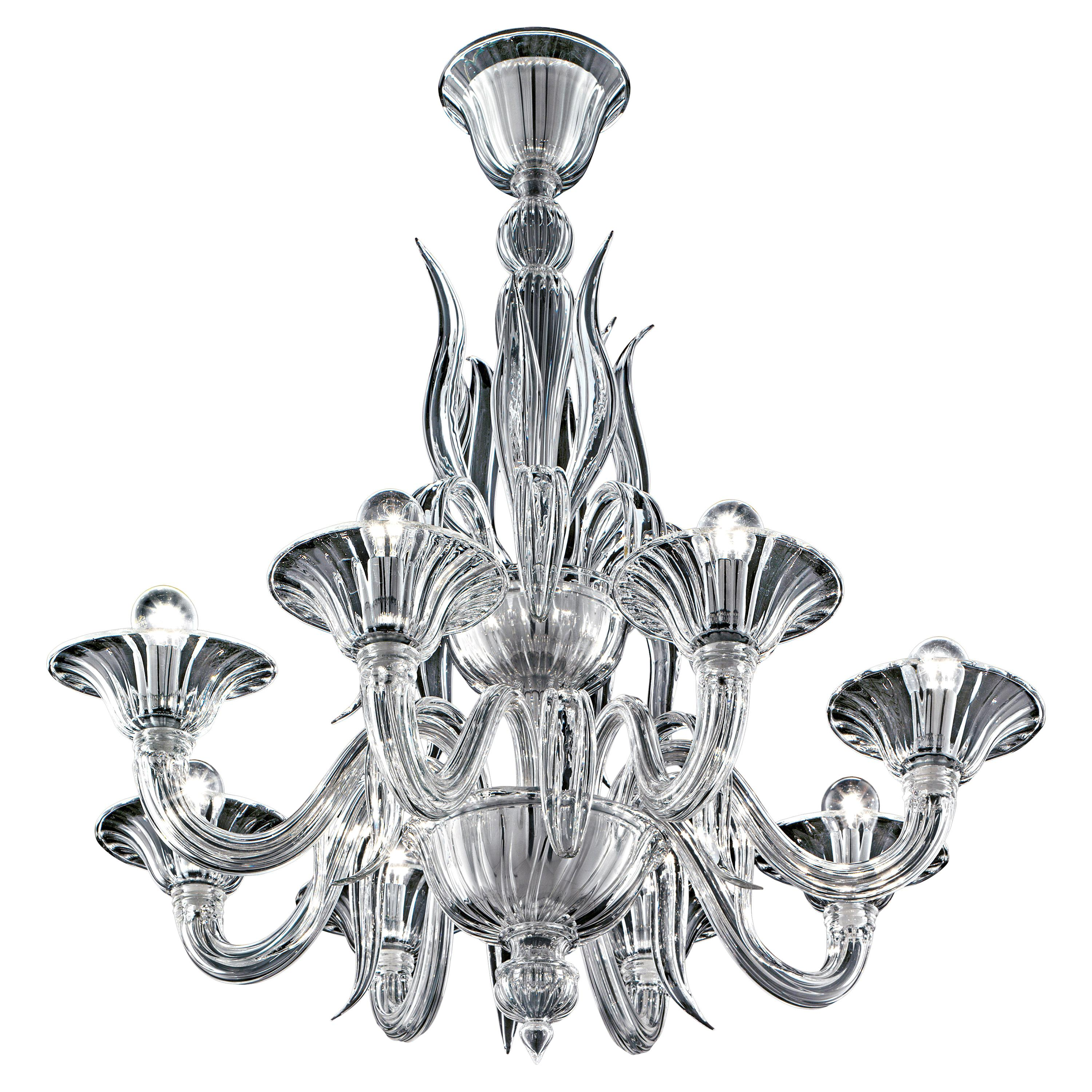 Fauve 5306 08 Chandelier in Glass, by Barovier&Toso