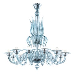 Fauve 5306 12 Chandelier in Glass, by Barovier & Toso