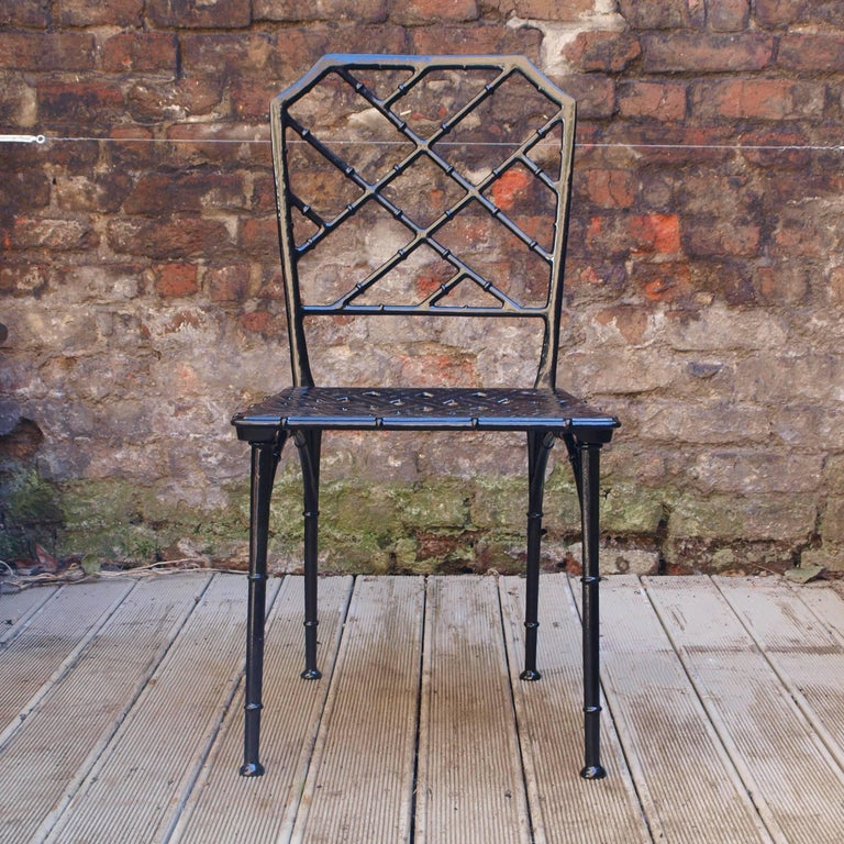 Faux Bamboo Patio Set From 1960s In The Style Of Brown
