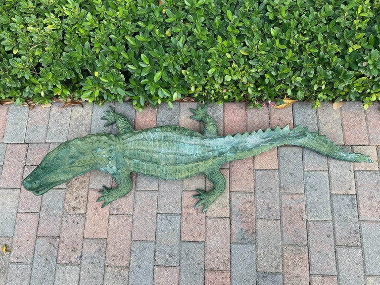 20th Century Faux Alligator Sculpture For Sale