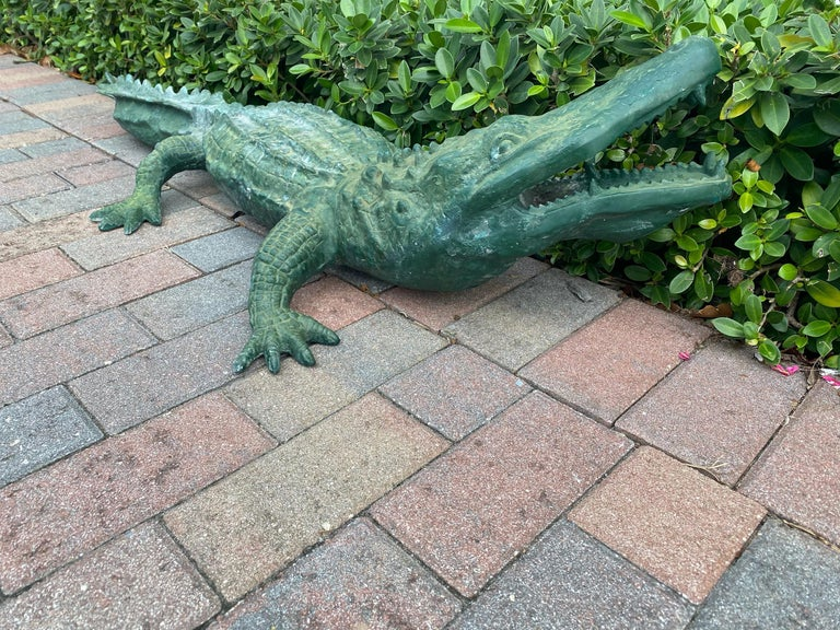 Faux Alligator Sculpture For Sale 1