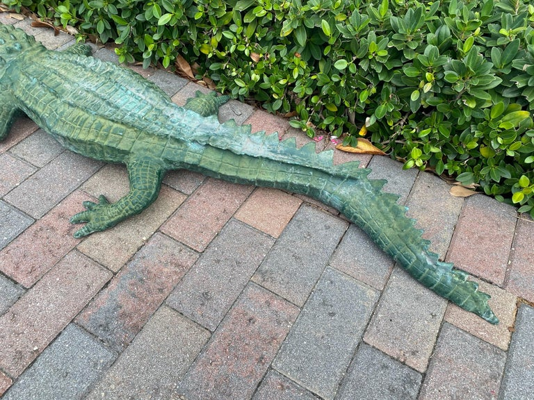 Faux Alligator Sculpture For Sale 2