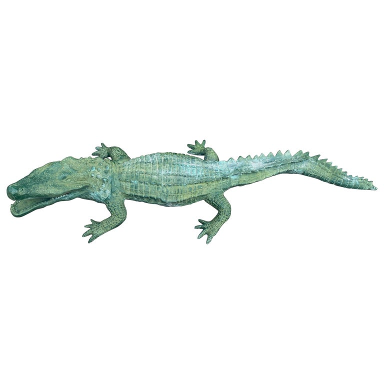 Faux Alligator Sculpture For Sale