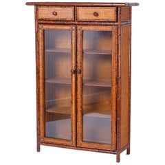 Faux Bamboo and Grasscloth Cabinet
