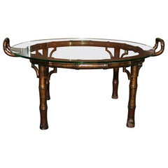 Faux Bamboo Butler Tray Coffee Table