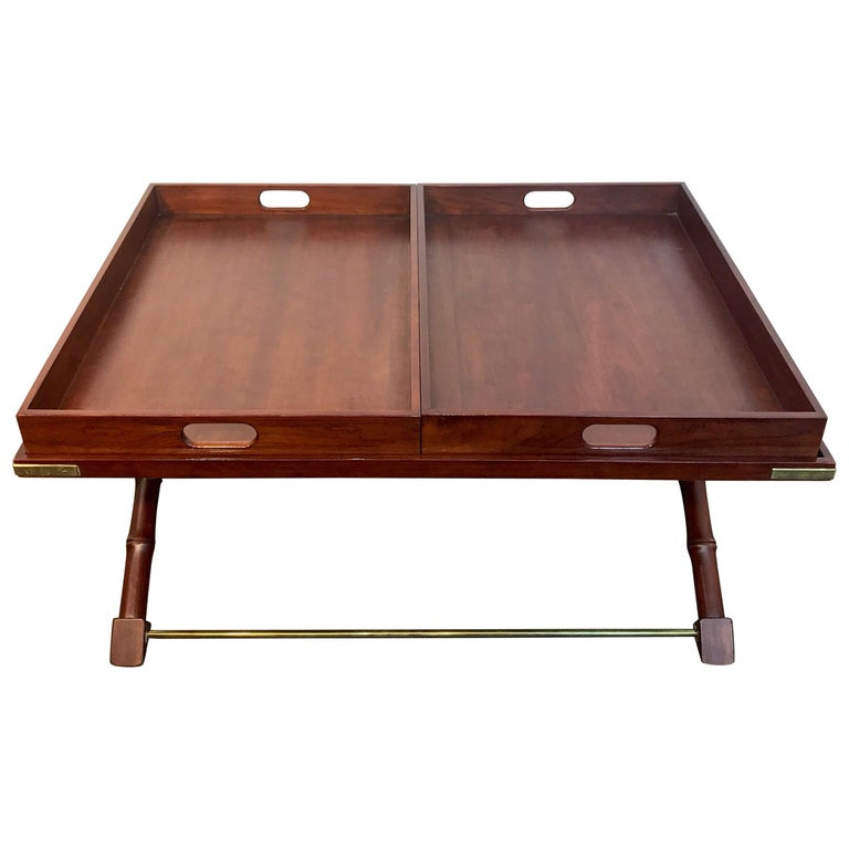 Faux Bamboo Campaign Style Coffee Table By Ralph Lauren For