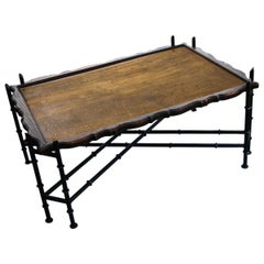 Faux Bamboo Chinese Chippendale Cocktail Table