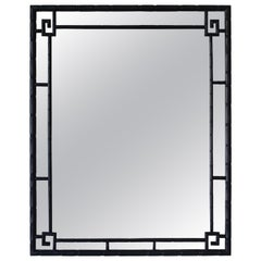 Faux Bamboo Chinoiserie Antique Mirror