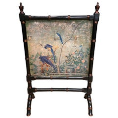 Faux Bamboo Chinoiserie Fire Screen