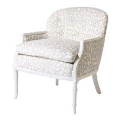 Faux Bamboo Club Chair for Kravet fabric, circa 1960
