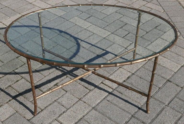 One of the nicest coffee tables I've had by Baguès over the years being quite a bit heavier gauge bronze than most I've had over the years. Wonderful chinoiserie elegance, which lends itself to being used in both modern and traditional settings.