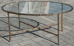 Faux Bamboo Coffee Table by Mason Bagues circa 1960