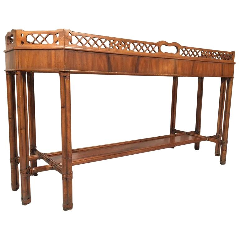 Faux Bamboo Console Table