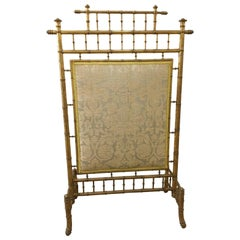Faux Bamboo Decorative French Fire Screen