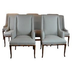 Faux-Bamboo Dining Chairs