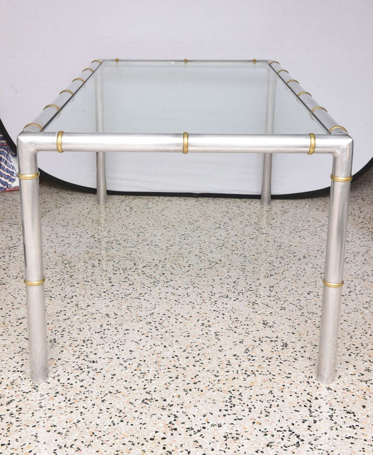 Faux Bamboo Dining Table For Sale 1