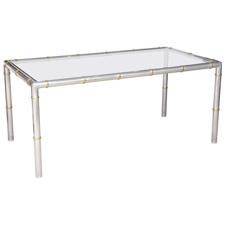 Faux Bamboo Dining Table For Sale