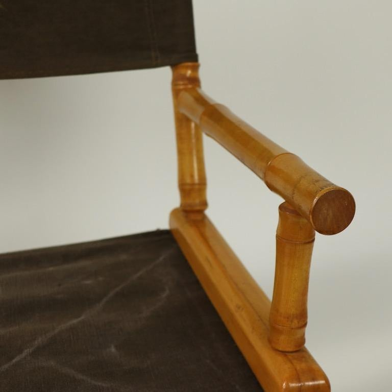 Faux Bamboo Directors Chair by Telescope Chair Company For Sale 3