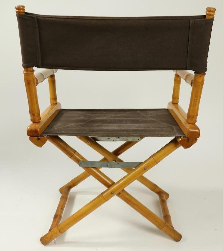 Faux Bamboo Directors Chair by Telescope Chair Company For Sale 5