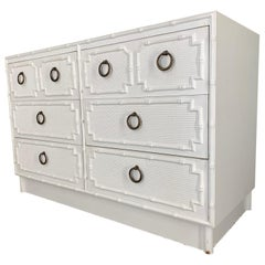 Faux Bamboo Double Dresser by Omega