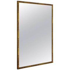 Faux Bamboo Giltwood Mirror