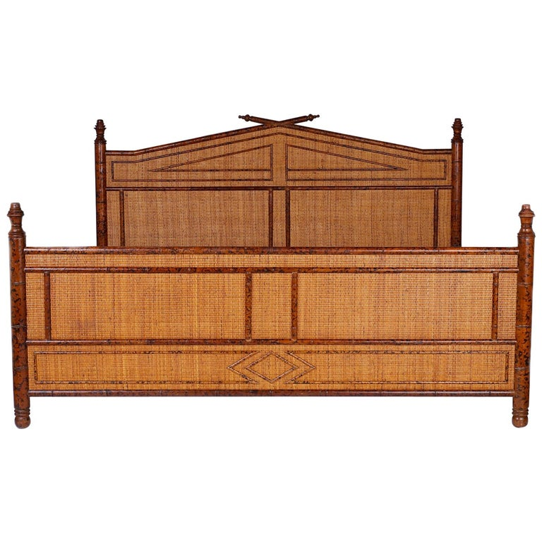 Faux Bamboo King-Size Bed At 1stdibs