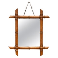 Faux Bamboo Mirror, Maison Ch. Sarlotte, 1930s, France