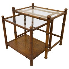 Faux Bamboo Nesting Tables, Set of 2