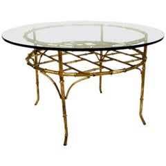Faux Bamboo Occasional Table