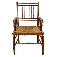 Faux Bamboo Rush Set Arm Chair