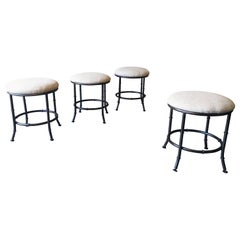 Faux Bamboo Stools Set of Four