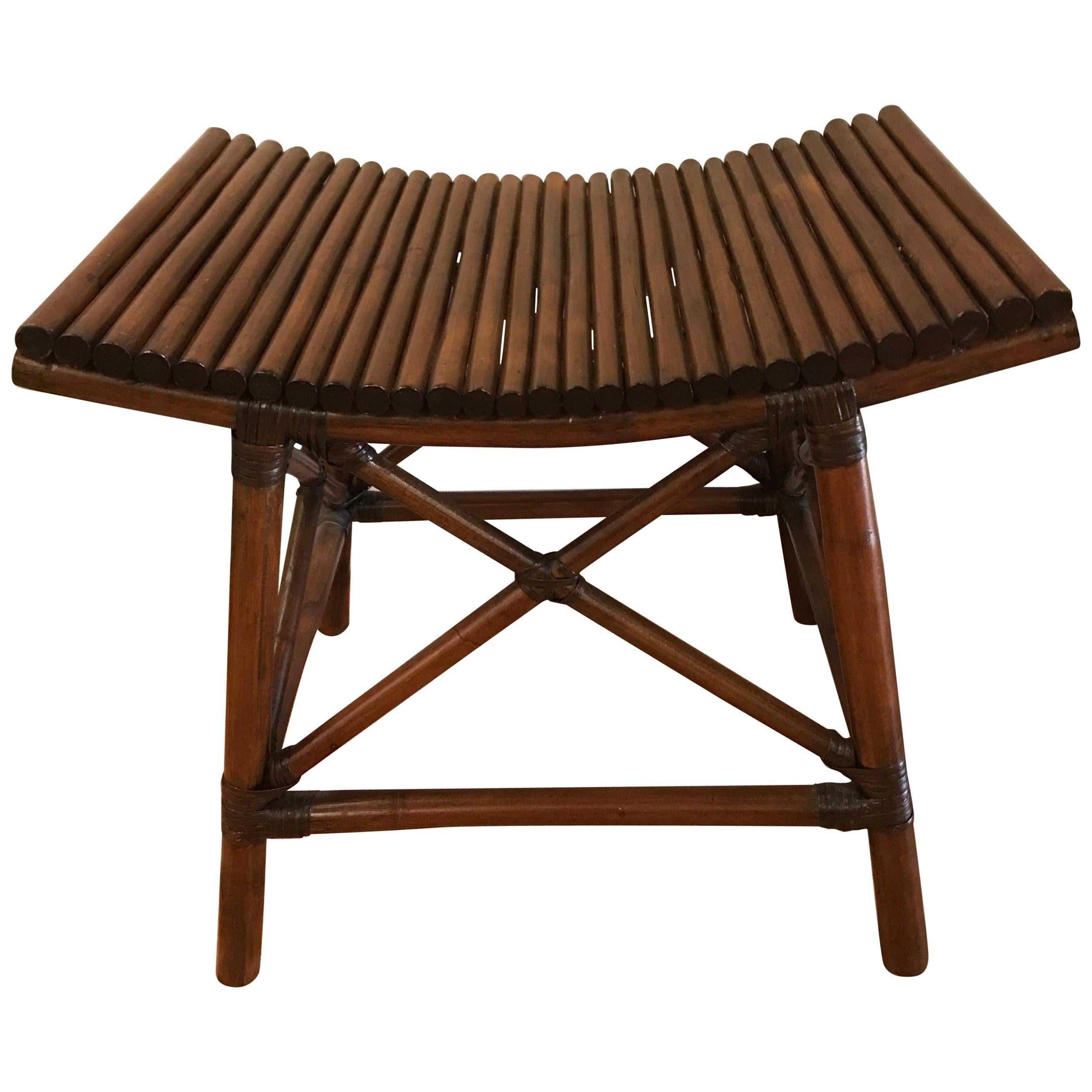 Faux Bamboo Thebes Style Bench