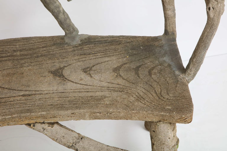 Faux Bois Bench with Naturalistic Design For Sale 6
