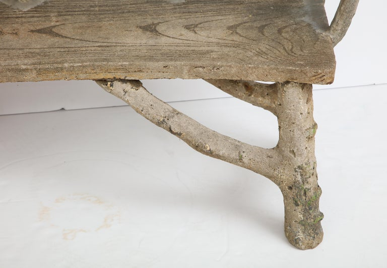 Faux Bois Bench with Naturalistic Design For Sale 11
