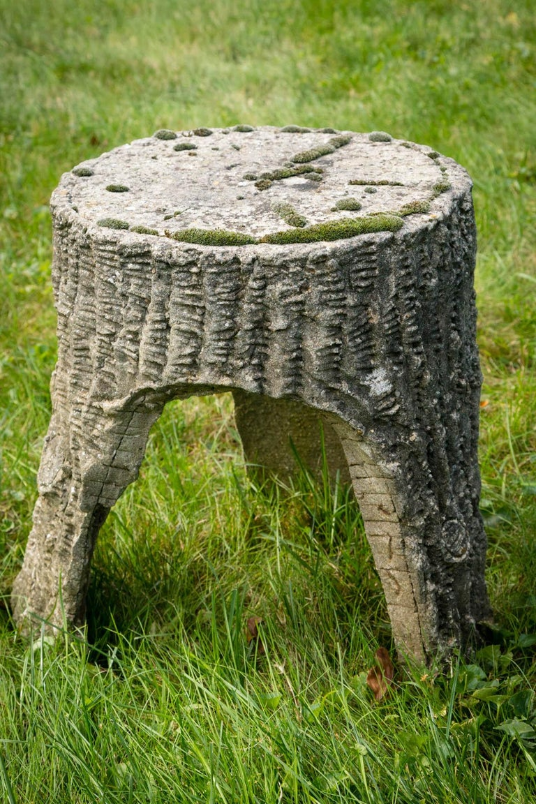 Faux Bois Chair and Stool For Sale 2