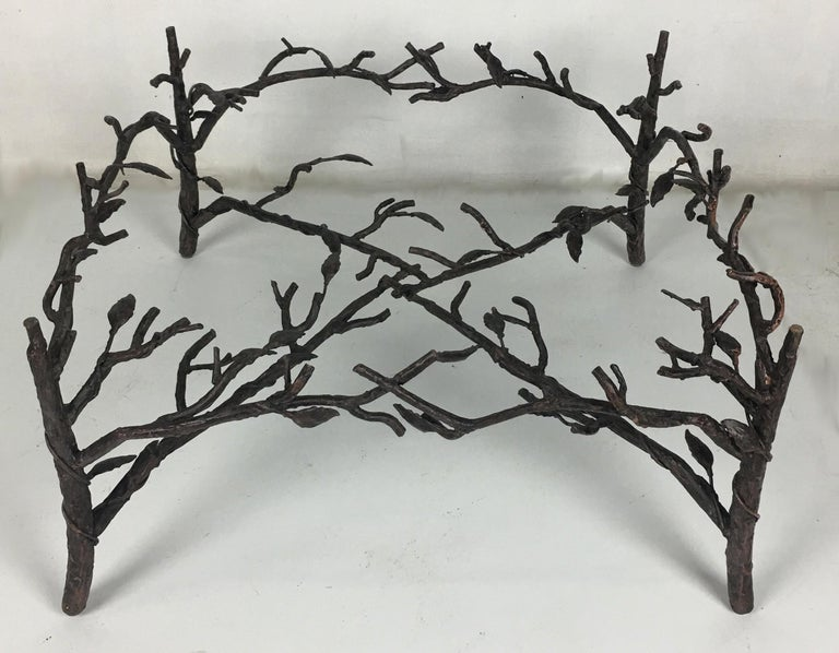 American Faux Bois Coffee Table in the Style of Giacometti For Sale