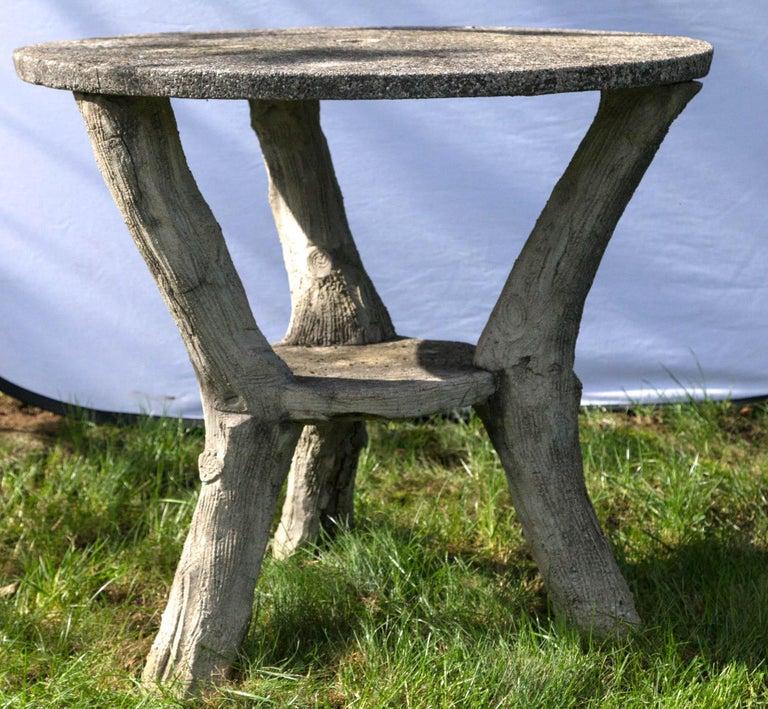 Wonderful 2 level faux bois table.