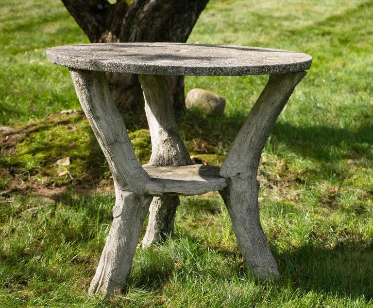 Faux Bois Garden Bistro Table For Sale 3