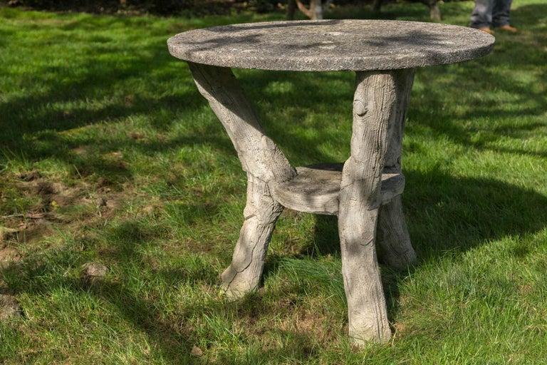 Faux Bois Garden Bistro Table For Sale 4
