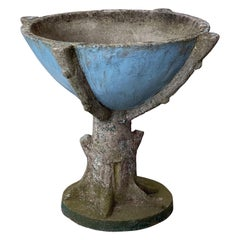 Faux Bois Garden Stone Planter or Stand from England