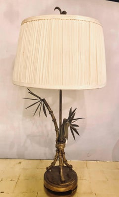 Faux Bois Hollywood Regency Table Lamp In The Manner Of Jansen