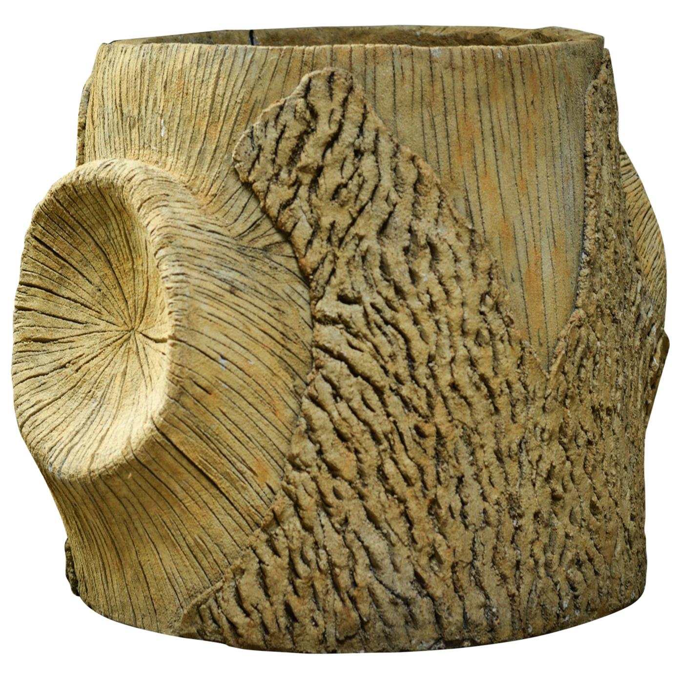 Faux Bois Planters, French Contemporary
