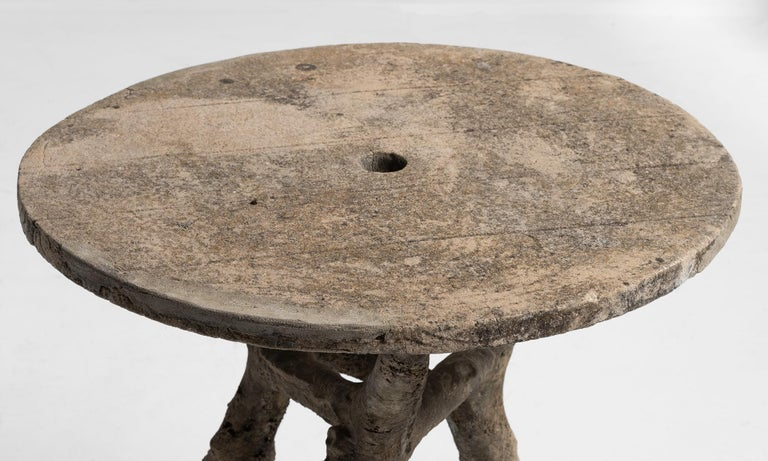French Faux Bois Table, France, circa 1950 For Sale