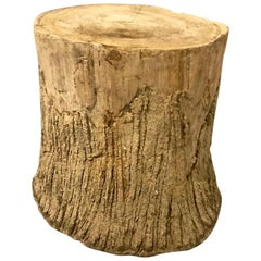Faux Bois Table or Stool