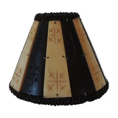 Faux Bone & Palm Small Clip On Bakelite Lamp Shade