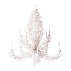 Faux Coral Iron Chandelier