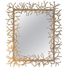 Faux-Coral Mirror