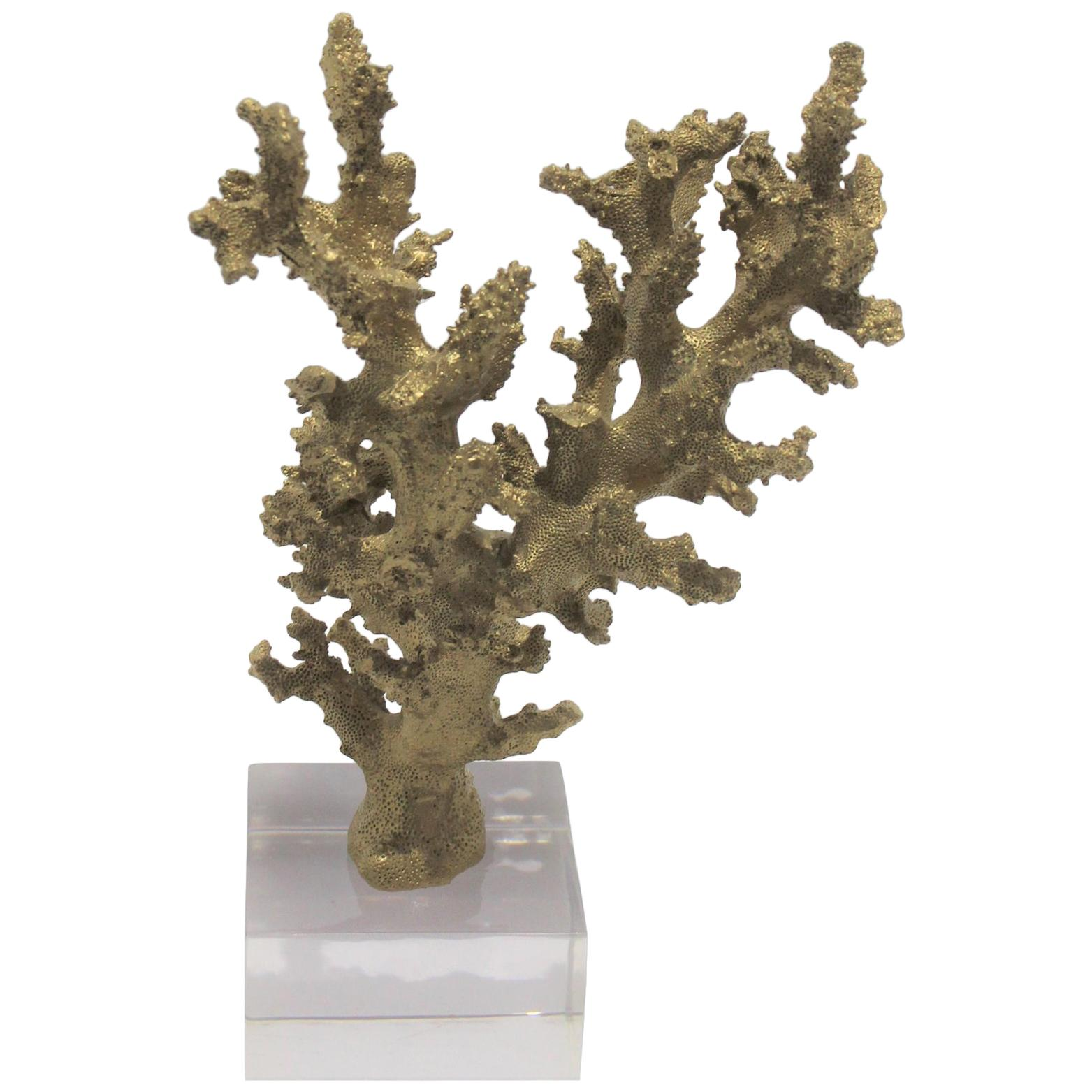 Faux Coral Speciman on a Lucite Base